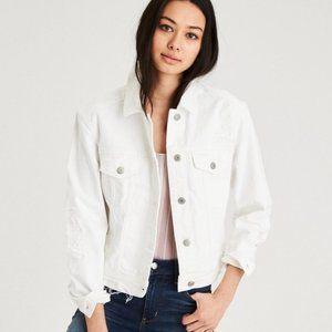DKNY Denim Button Jean Jacket White Large